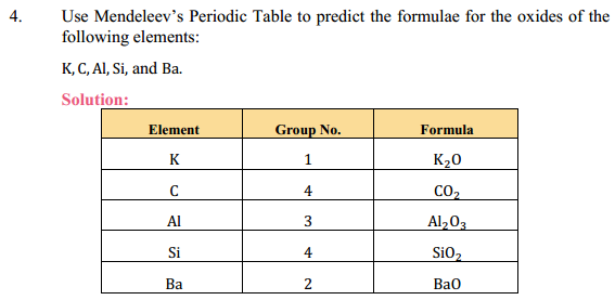 NCERT Solutions for Class 10 Science Chapter 5 Periodic Classification of Elements 13