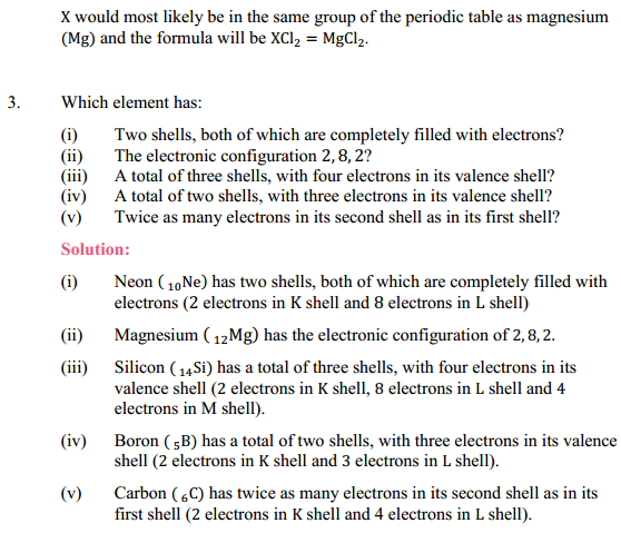NCERT Solutions for Class 10 Science Chapter 5 Periodic Classification of Elements 3