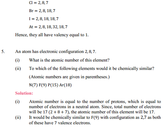 NCERT Solutions for Class 10 Science Chapter 5 Periodic Classification of Elements 5