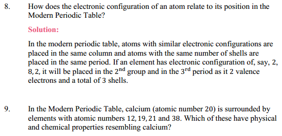 NCERT Solutions for Class 10 Science Chapter 5 Periodic Classification of Elements 8