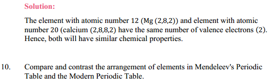 NCERT Solutions for Class 10 Science Chapter 5 Periodic Classification of Elements 9