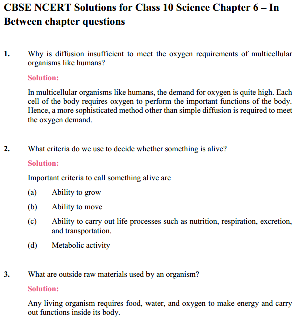 NCERT Solutions for Class 10 Science Chapter 6 Life Processes 13