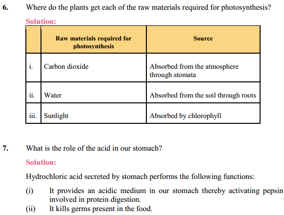 NCERT Solutions for Class 10 Science Chapter 6 Life Processes 16