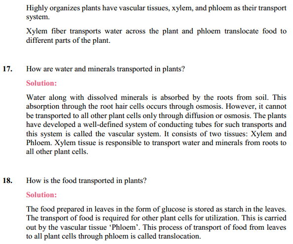 NCERT Solutions for Class 10 Science Chapter 6 Life Processes 21