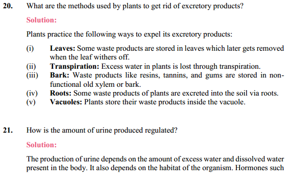 NCERT Solutions for Class 10 Science Chapter 6 Life Processes 24