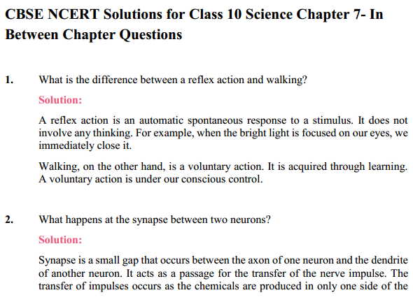 NCERT Solutions for Class 10 Science Chapter 7 Control and Coordination 12