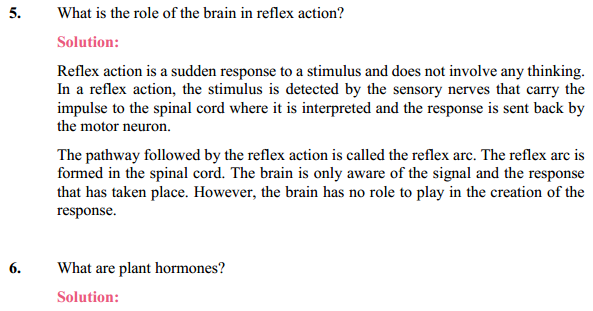 NCERT Solutions for Class 10 Science Chapter 7 Control and Coordination 14