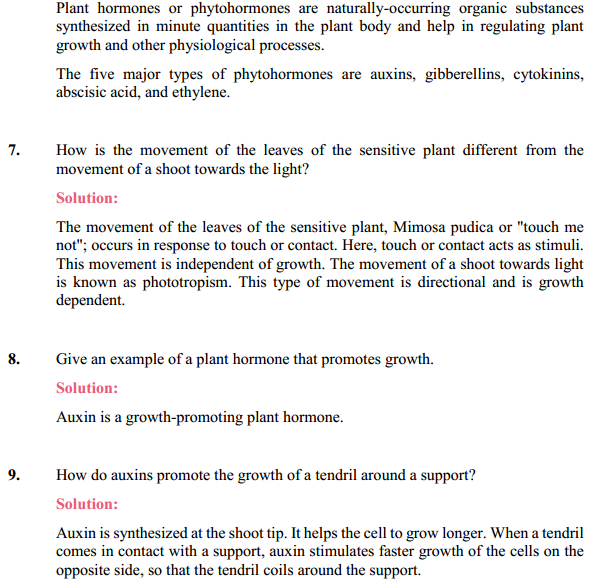 NCERT Solutions for Class 10 Science Chapter 7 Control and Coordination 15