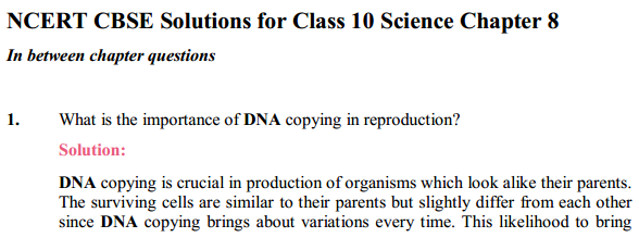 NCERT Solutions for Class 10 Science Chapter 8 How Do Organisms Reproduce 10