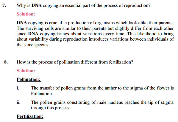 NCERT Solutions for Class 10 Science Chapter 8 How Do Organisms Reproduce 14