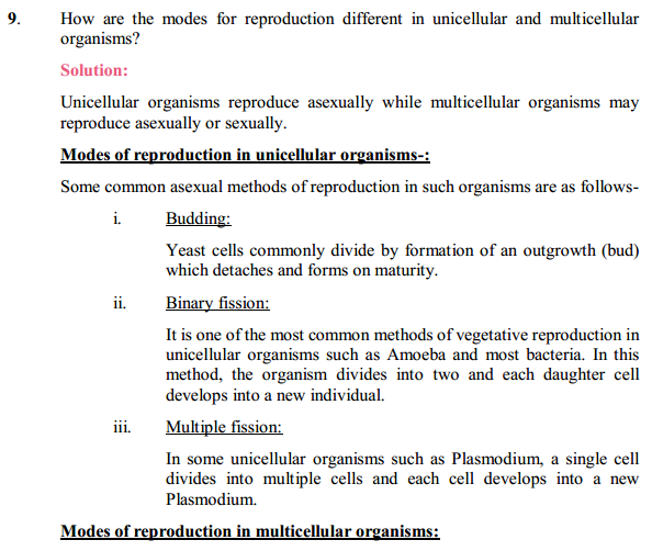NCERT Solutions for Class 10 Science Chapter 8 How Do Organisms Reproduce 8