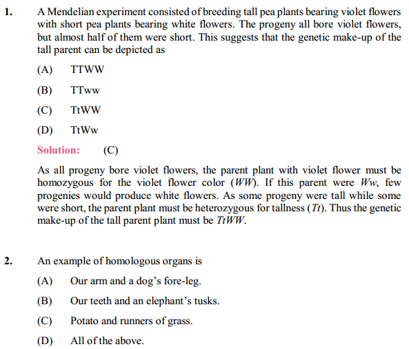 NCERT Solutions for Class 10 Science Chapter 9 Heredity and Evolution 1