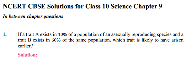NCERT Solutions for Class 10 Science Chapter 9 Heredity and Evolution 10