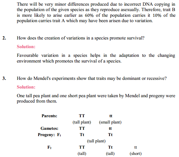 NCERT Solutions for Class 10 Science Chapter 9 Heredity and Evolution 11