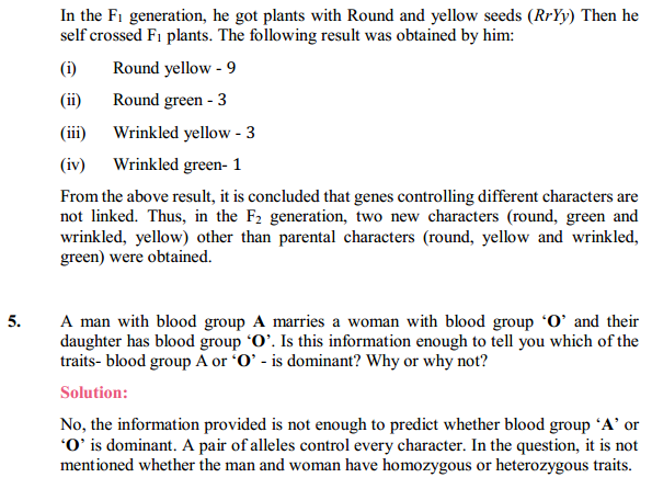 NCERT Solutions for Class 10 Science Chapter 9 Heredity and Evolution 13